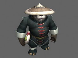 Male Pandaren - WoW character 3d model preview