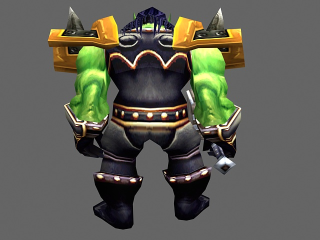 Thrall - WoW character 3d rendering