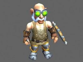 High Tinker Gelbin Mekkatorque - WoW character 3d preview