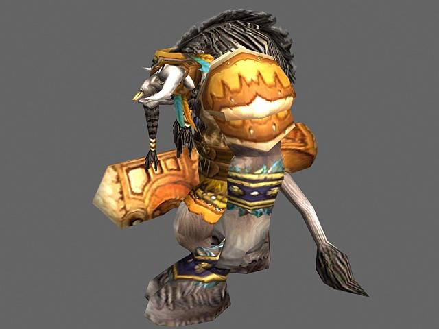Cairne Bloodhoof - WoW character 3d rendering