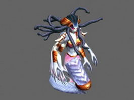 Lady Vashj - WoW character 3d preview