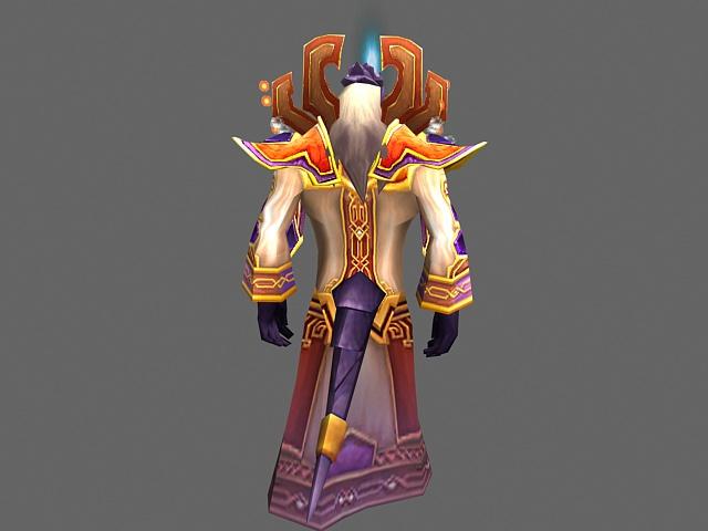 Prophet Velen - WoW character 3d rendering