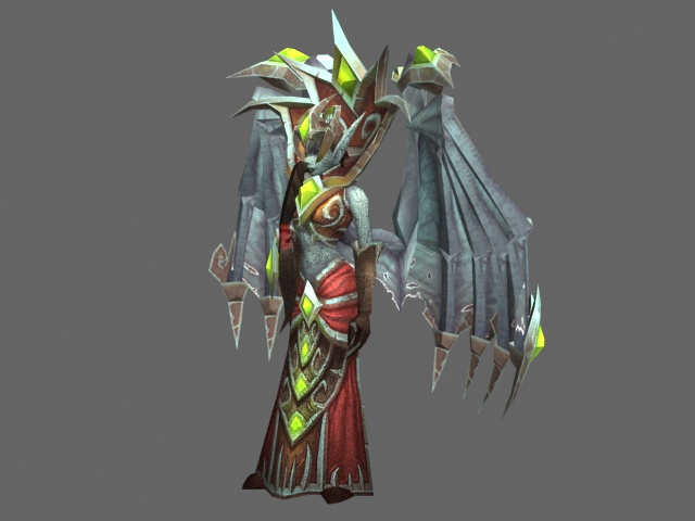 Mother Shahraz - WoW character 3d rendering