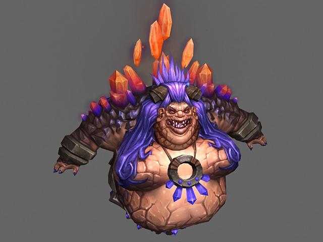 Female ogre - WoW character 3d rendering