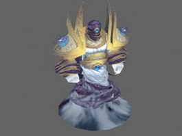 Wind elemental - WoW character 3d model preview