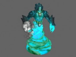 Water elemental - WoW character 3d model preview