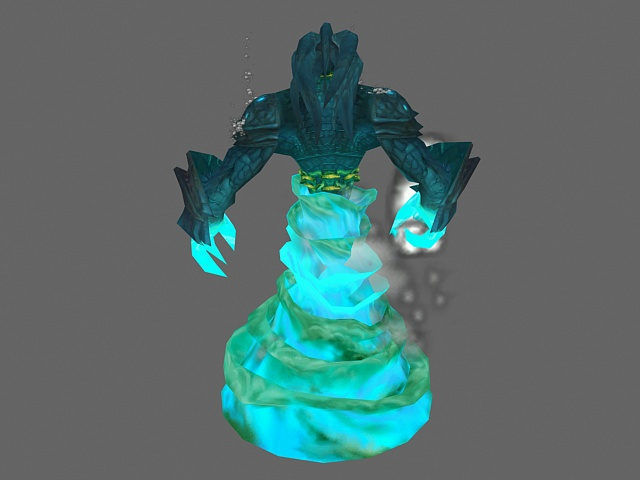 Water elemental - WoW character 3d rendering