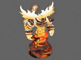 Fire Elemental Creature 3d model preview