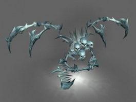 Skeletal demon 3d model preview