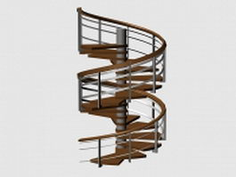 Outdoor spiral staircase 3d preview