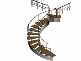 Arc stair 3d preview