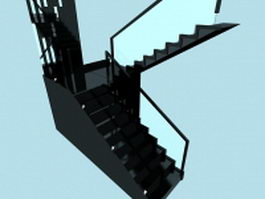 Interior marble staircase 3d preview