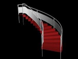 Circular staircase 3d model preview