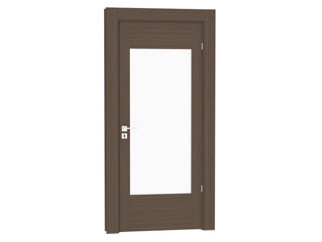 Glazed internal door 3d rendering