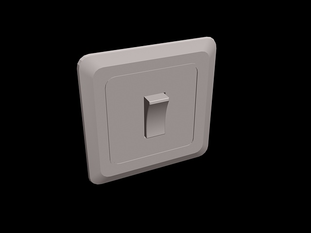 Toggle light switch 3d rendering