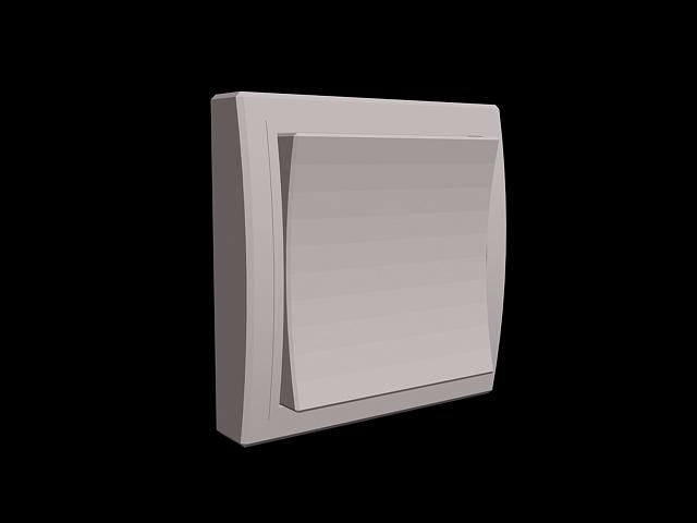 Wide rocker switch 3d rendering