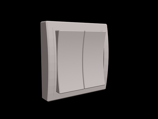2-way rocker switch 3d rendering
