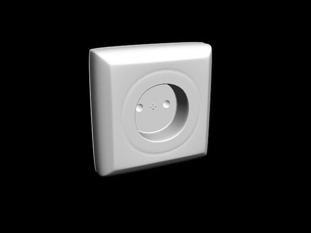 Schuko socket outlets 3d rendering