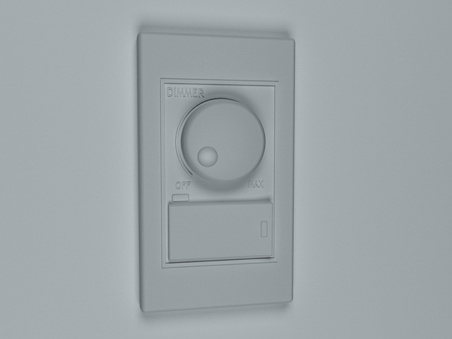 Dimmer switch 3d rendering