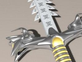 Sword of power 3d model preview