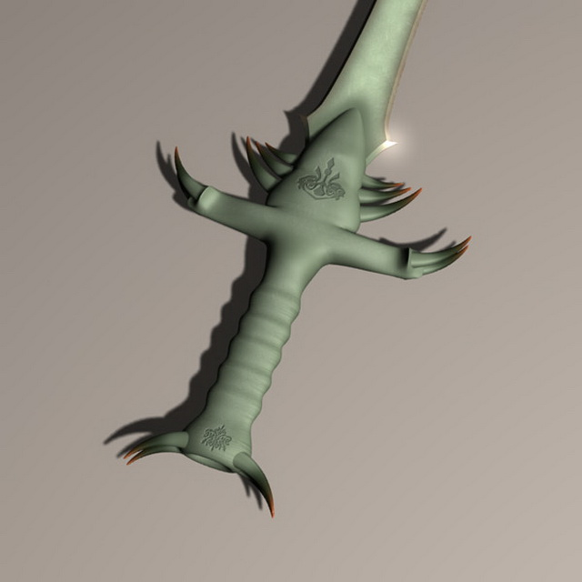 Sword of the greenland 3d rendering