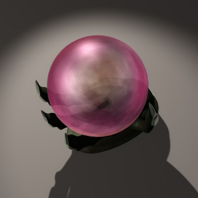 Magic orb ball 3d rendering