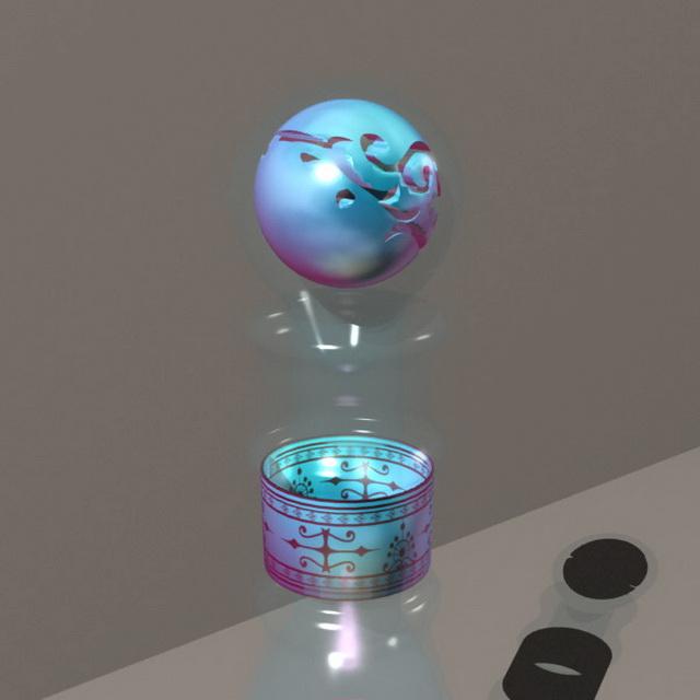 Magic potion flask 3d rendering