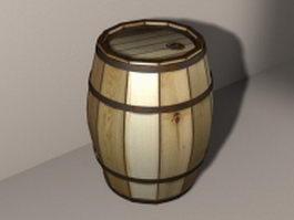 Wood barrel 3d preview