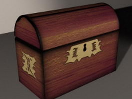 Treasure chest 3d preview