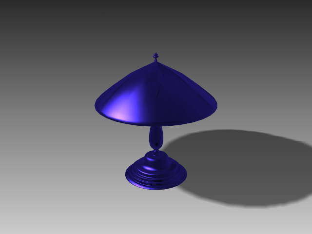 Umbrella table lights 3d rendering