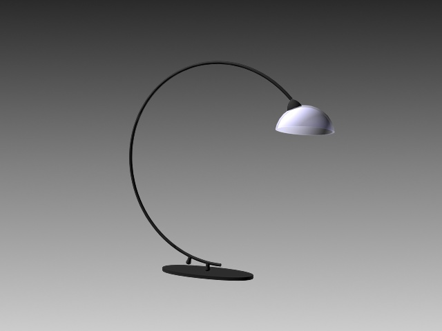 Arched table lamp 3d rendering