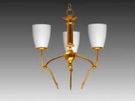 Chandelier ceiling lights 3d model preview