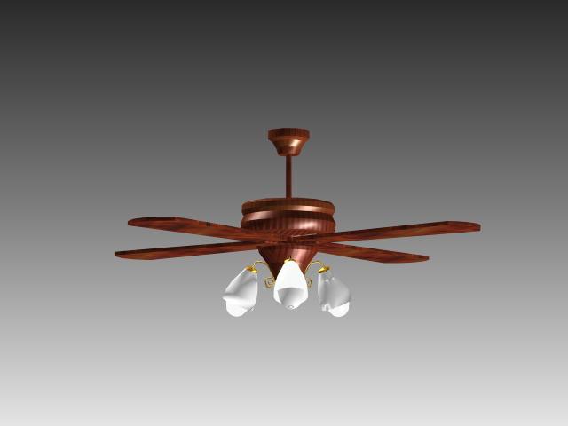 Ceiling fan lights 3d rendering