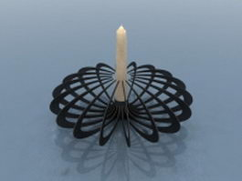 Metal candle holder 3d model preview