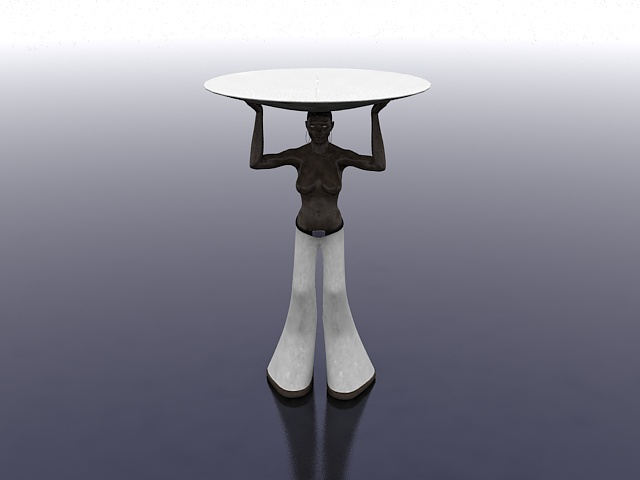 Woman candle holder 3d rendering