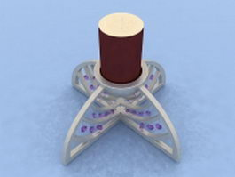 Modern candle holder 3d model preview