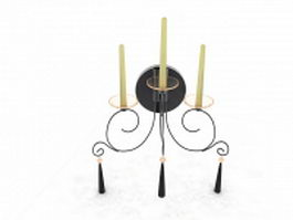 Wall mount candle holder 3d model preview