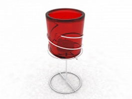 Glass tube candle holder 3d preview