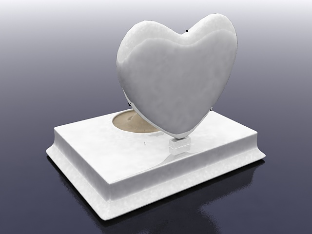 Heart candle holder 3d rendering