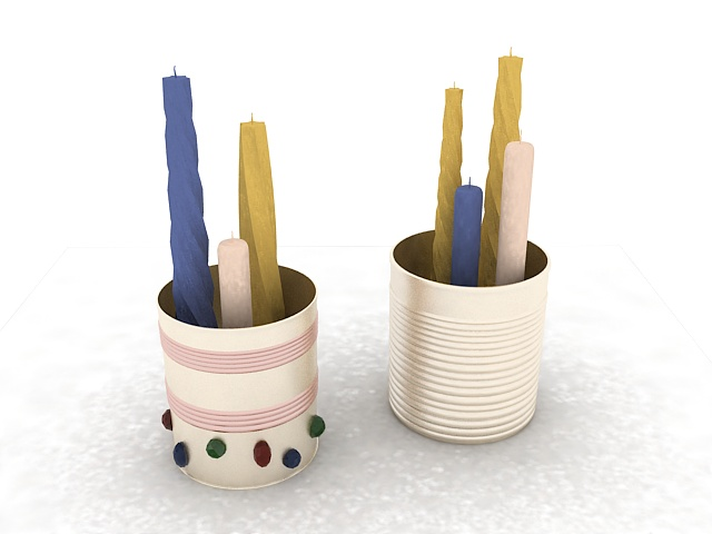 Candle pot container 3d rendering