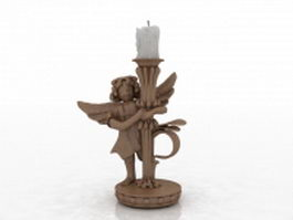 Angel candle holder 3d preview