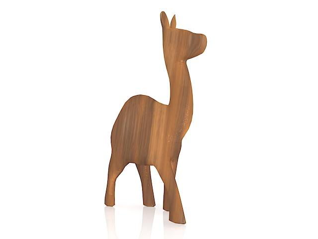 Wooden camel 3d rendering
