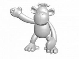 Cute cartoon monkey 3d model preview