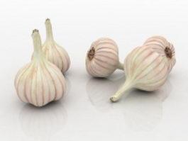 Garlic bulbs 3d preview