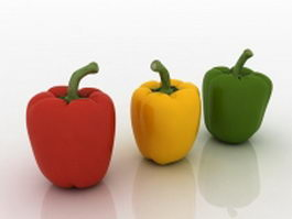 Bell peppers 3d preview