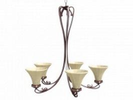 Classic pendant light chandelier 3d preview