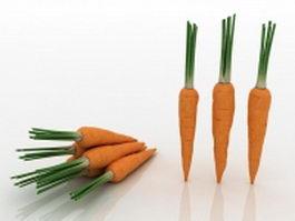 Domestic carrots 3d preview