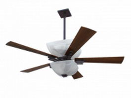 Ceiling fan with lights 3d preview