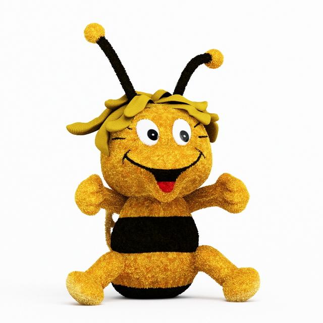 Cute plush ant 3d rendering