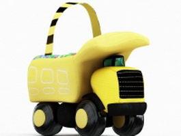 Car toys storage box 3d model preview